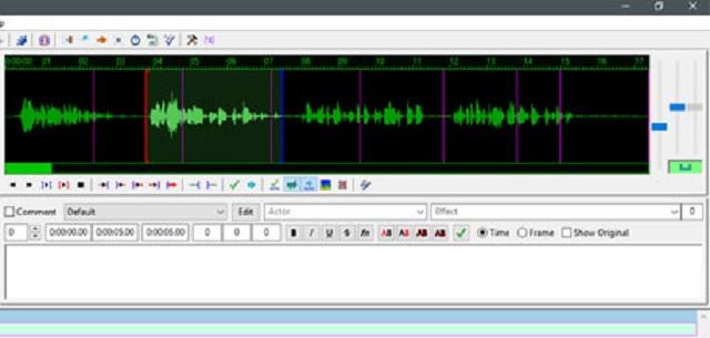 Âm thanh có dạng sóng sẽ giúp bạn chỉnh sửa sub dễ dàng hơn