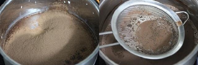Sử dụng rây lọc hỗn hợp cho mịn
