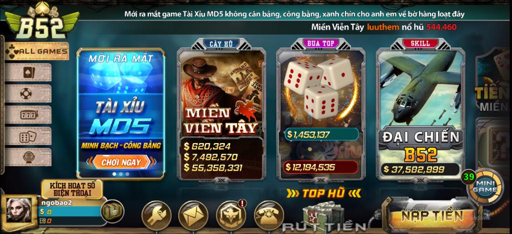Cổng game đánh bài uy tín số 1 tại Việt Nam - B52 Club