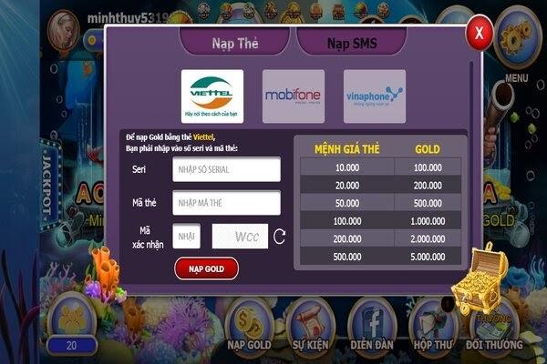Chấp nhận giao dịch qua nhiều loại thẻ cào và mệnh giá khác nhau
