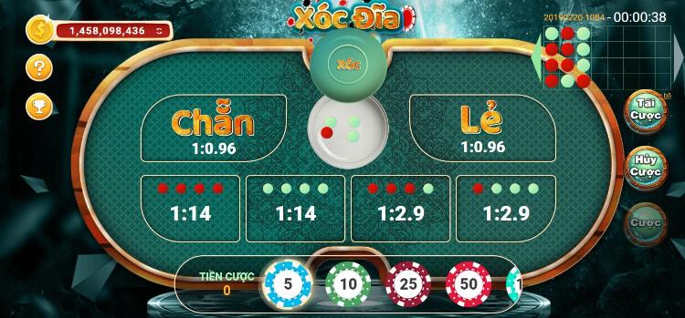 Chơi game xóc đĩa đổi thưởng uy tín
