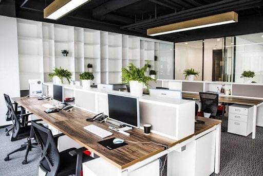 Nội thất văn phòng xanh tạo được sự thoải mái, thua giãn